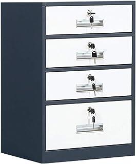 Armoires Classeur à 4 Couches, Bureau et Chambre en métal avec Serrure à casiers Bleus et Blancs (39x44x65cm) (Color : Blu...