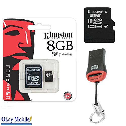 Okay Mobile Original Kingston MicroSD-kaart geheugenkaart 8 GB Tablet voor Samsung Galaxy Book 12 + 8 GB kaartlezer