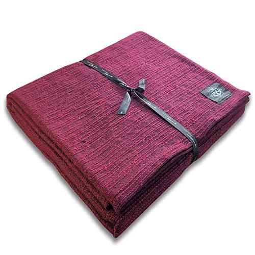 "Craft Story Decke ""Yara"" I Uni Pflaume aus 100% Baumwolle I Tagesdecke I Sofa-Decke I Überwurf I Bedspread I Plaid I Picknickdecke I Läufer I 170 x 220cm"