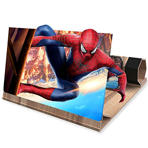 """3D Phone Screen Amplifier- Foldable Phone Stander - 12"""" HD Suitable for Movies or Gaming with iPhone X/8/8 Plus/7/7 Plus/6/6s/6 Plus/6s Plus and All Other Smart PhonesALL Smart Phones"""