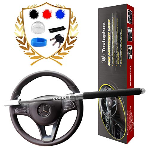 Tevlaphee Steering Wheel Lock For Cars,Wheel Lock,Vehicle Anti-Theft Lock,Adjustable Length Clamp...