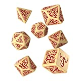 Q WORKSHOP Call of Cthulhu Masks of Nyarlathotep RPG Ornamented Dice Set 7 Polyhedral Pieces -