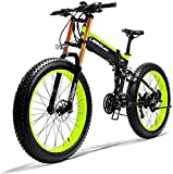 Bicicletas Eléctricas, 26' Electric bicicleta de montaña, 36V 250W 6AH batería de litio de la batería Ocultos Esquí de bicicletas, Doble disco de freno de aleación de bicicleta eléctrica (Color: Verde