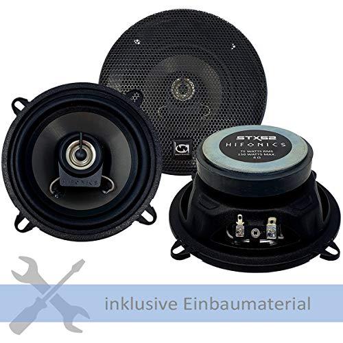 Hifonics Lautsprecher STX-52 300W 130 mm 2 Wege Koax passend für Renault Kangoo (FW/KW) ab 2008 Türen Front