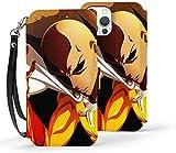 Étui portefeuille pour iPhone 12 Mini - Anime One Punch Man Saitama [Fonction béquille] - Étui...