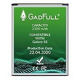 GadFull Batería de reemplazo para Samsung Galaxy S3 | 2020 Fecha de producción | Corresponde al Original EB-L1G6LLU | Compatible con Galaxy S3 i9300 | Galaxy S3 LTE i9305 batería de Repuesto