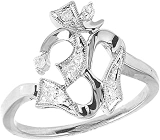 Fine Rings Diamond 14k Rose Gold Over 0.50 Ct Round Cut Diamond Crown Princess Engagement Ring Cheap Sales 50%