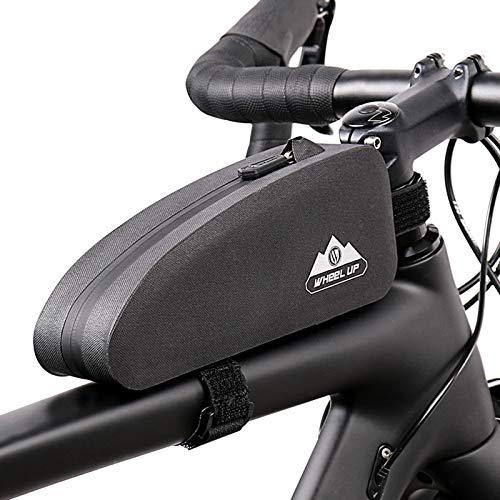 Yagosodee Bolsa de Marco Frontal Bolsa de Manillar Impermeable Bolsa de Bicicleta Soporte para Teléfono Bolsa de Almacenamiento de Bicicletas Paquete de Marco de Tubo Superior de Ciclismo