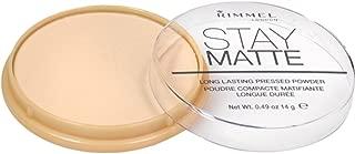 Rimmel Stay Matte Pressed Powder, Transparent [001], 0.49 oz (Pack of 3)