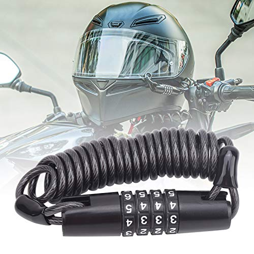 Bloqueo de casco, Bloqueo de contraseña de casco, Mini portátil duradero para bicicletas para vehículos eléctricos para motocicletas