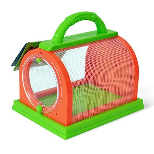 Sweo Insekten-Kasten-Kinderbeobachtungs-Haustier-Fütterungskäfig-Plastikinsekten, die Eximent-Kästen aufpassen