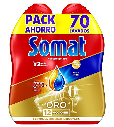 Somat- Oro Gel per lavastoviglie, aceto 70 Lavados (1.26 l)