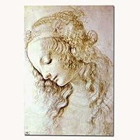 ポストカード 「レオナルド・ダ・ヴィンチのデッサン」 23 女性の頭のエチュード