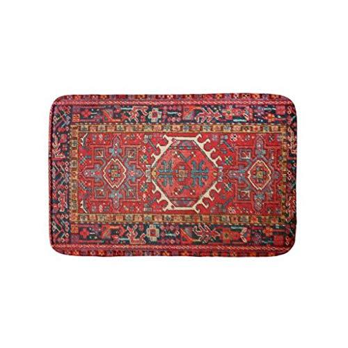 tian huan88 16x24 inch badmat, antieke oosterse Turkse Perzische badmat, machinewasbare vloermatten voor badkamer