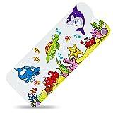 SilverRack Kinder Badewannenmatte DermaSensitivo Soft 100% BPA frei (Fische - RECHTS) - Badewanneneinlage rutschfest 100x40 cm für Kinder und Baby - Antirutschmatte für Badewanne