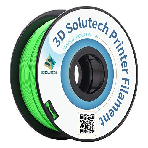 3D Solutech Apple Green 3D Printer PLA Filament 1.75MM Filament, Dimensional Accuracy +/- 0.03 mm, 2.2 LBS (1.0KG) - PLA175RGR