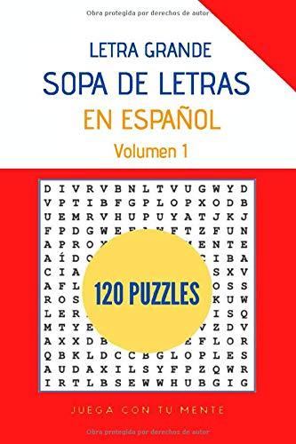 Sopa de Letras en Español Letra Grande 120 Puzzles Volumen