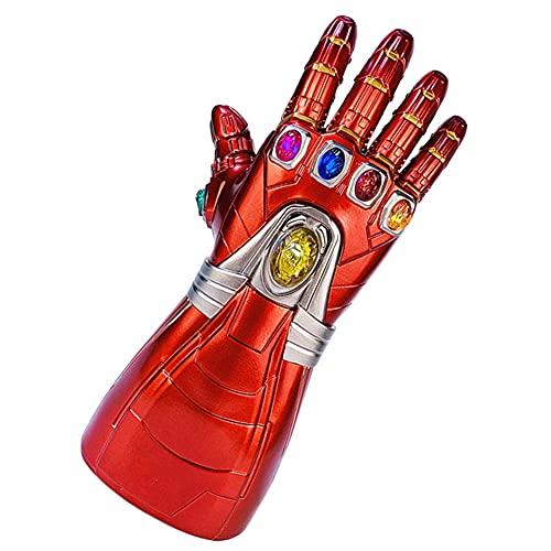 LFTS Adult Iron Man Infinity Gauntlet mit abnehmbaren magnetischen LED Infinity Stones-3 Blitzmodus PVC Infinity Handschuh Cosplay Kostüm Prop Party Party Performance Requisiten Geburtstagsgeschenke