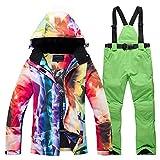 WEIYYY -30 Ropa cálida para Mujer Conjuntos de Trajes para la Nieve Ropa de Snowboard Disfraz de Invierno Impermeable