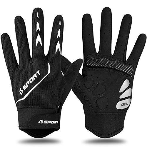Yobenki Fahrradhandschuhe Handschuhe Touchscreen Anti Rutsch Laufhandschuhe MTB Handschuhe für Männer Frauen zum Radfahren Wandern Outdoor Aktivitäten
