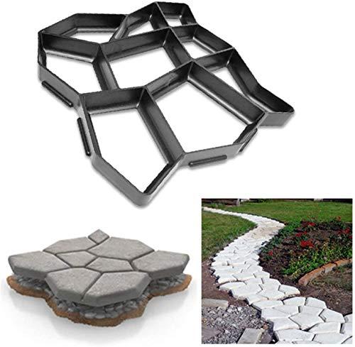 ZY Path Maker DIY Herstellung Pflasterform, Wiederverwendbare Beton Zement Stein Design Fertiger Walk Maker Form, Muster für Pflaster Pflaster Patio Garden Walkway