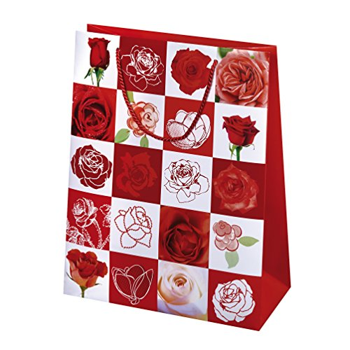 Susy Card 11450137 cadeauverpakking motief: Pretty Rose, papier, gelamineerde glanzende folie