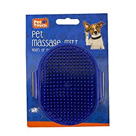 Pet Touch Dog Cat Grooming Massage Mitt with Adjustable Strap Bath Brush Suitable for long & Short Hairs Puppy& Kitten