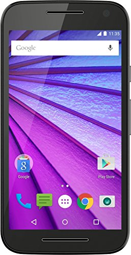 Motorola Moto G 3rd Generation Smartphone (5.0 Touch Screen, 8 GB Storage, Android 5.1.1) – Black