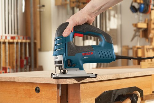 """BOSCH Power Tools Jig Saws - JS470E Corded Top-Handle Jigsaw - 120V Low-Vibration, 7.0-Amp Variable Speed For Smooth Cutting Up To 5-7/8\"""" Inch on Wood, 3/8\"""" Inch on Steel For Countertop, Woodworking , Blue"""