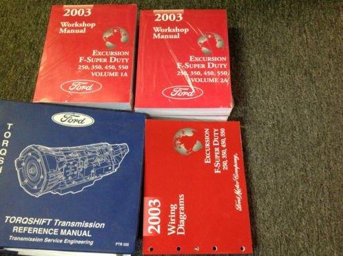 2003 FORD TRUCK Excursion F-250 350 450 550 Service Shop Repair Manual W EWD +