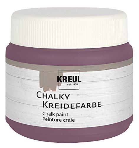 Kreul 75315 - Chalky Kreidefarbe, sanft - matte Farbe, cremig deckend, schnelltrocknend, für Effekte im Used Look, 150 ml Kunststoffdose, Pure Purple