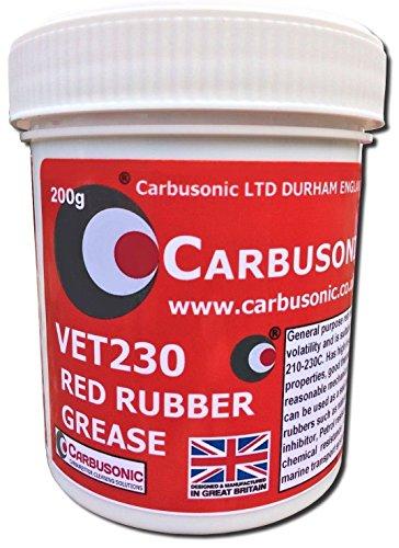 Grasa de Goma de Color Rojo carbusónico Limitado, Pinza de Freno lubricación hidráulica, Goma Segura 200 grm