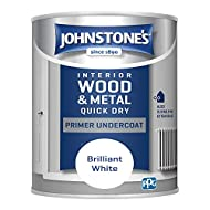 Johnstone's Quick Dry Primer Undercoat is suitable for use on interior and exterior bare timber and masonry surfaces Fast drying Low odour Dry time: 1-2 hours Coverage (Per litre): 13 m²