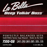 LA BELLA (ラベラ) 6弦ベース弦 750G-CB Gold White Nylon Tape 6-String