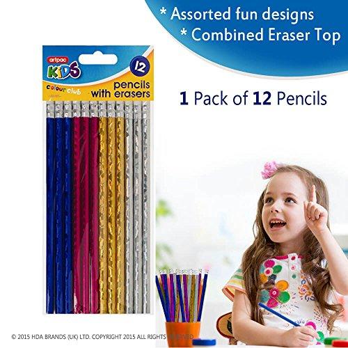 Artistieke potloden-Fine Grip & Palm Arch Houten Lead Schrijven Tool Voor Dagelijks Gebruik-Glossy Getextureerde Kleurrijke Ontwerp Voor Studenten, Kantoor & Thuisgebruik (1)