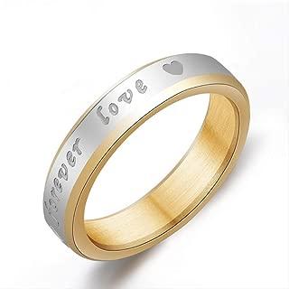 Titanium Steel Ring 6mm Eternal Love Forever Lover Ring 7 stainless steel
