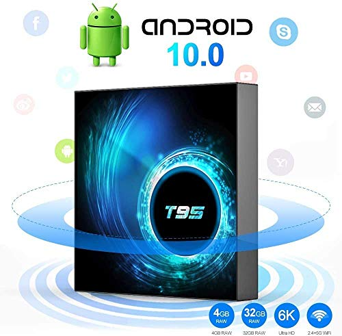 TV Box Android 10.0 TV Box H616 Quad-Core CPU 4GB RAM 32GB ROM Ultra HD 6K Resolution 2.4GHz WiFi 100M LAN 2USB2.0 Smart Media Player
