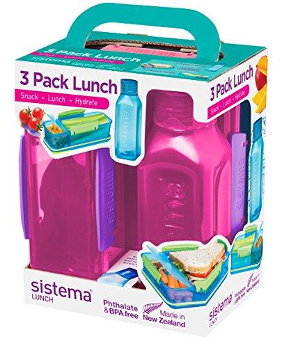 Sistema Lunch Trio Pack, farblich sortiert