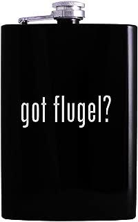 got flugel? - 8oz Hip Alcohol Drinking Flask, Black