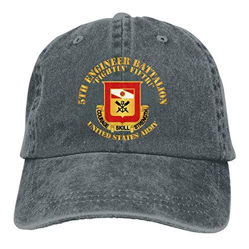 DFHGFJGH Quinto Ingeniero Bn Fightin Quinto Gorras de béisbol Ajustables Sombreros de Mezclilla Cowboy Sport Outdoor