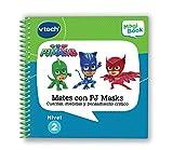 VTech Libro para Magibook PJ Masks, Aprende en casa, Operaciones matemáticas básicas y Medidas con más de 40 Actividades y Cientos de interacciones, Nivel 2, 3-6 años (3480-480122)
