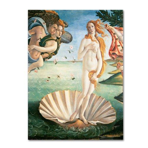 Birth of Venus 1484 Artwork by Sandro Botticelli, 35 by 47-Inch Canvas Wall Art