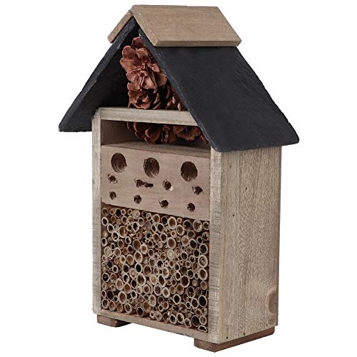 Wooden Insect House Wood Craft Nesting House Gardening Ornaments for Insects Bee