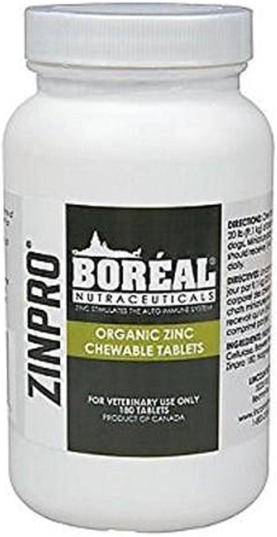Boreal Zinpro Organic Zinc Chewable Tablets  180 Count