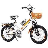 Axdwfd Infantiles Bicicletas Bicicleta De Montaña De 16-20 Pulgadas, Engranajes De 21 Velocidades, Marco Plegable, Bicicletas para Niños para Niños Y Niñas(Size:18in)