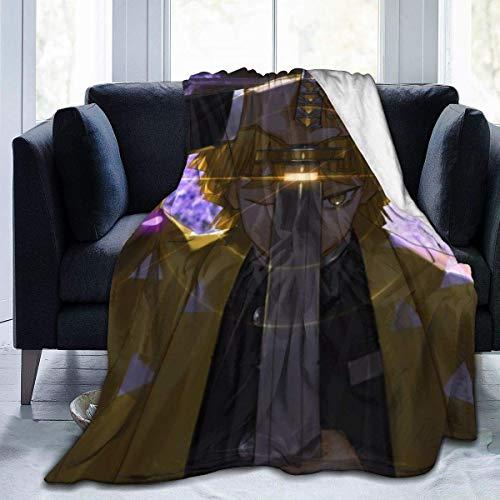 Lsjuee Kimetsu no Yaiba Katana Manta de Franela de Microfibra Mantas de Tiro de Lujo súper Suave y difuso Adecuado para Cama, sofá, Viaje, Four Seasons, Manta de 80 x 60 Pulgadas
