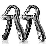 Fortalecedores de Mano Set, 10-60KG Ajustables con Función de Conteo, Entrenamiento de la Fuerza de Mano, Grips Strengthener, Fortalecedor de Mano, Antebrazo Entrenamiento, Kit Pesas Musculacion