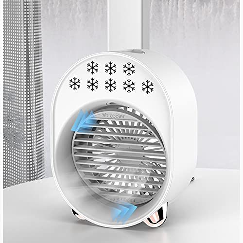 WMQQ Air Conditioner Portable for Room,Personal Air Cooler,New Air Cooler Household Air Conditioning Fan Desktop Small Spray USB Interface,Space Air Cooler for Room, Home, Office, Dorm