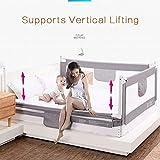 qiancheng-bed rails sponda letto 3 lati (lato 2 lunghezze e lato 1 piedi) rotaia del letto for il bambino sicurezza e sistema robusto, 3 colori, 4 taglie (color : green, size : 1.5x1.8x1.8m)