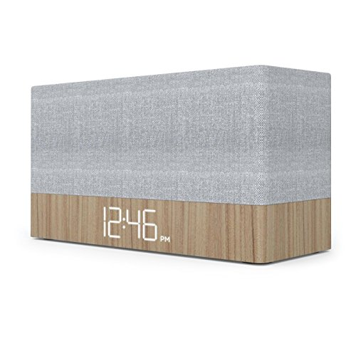 Capello Ci320 Simple Stack Bluetooth Speaker with Clock - Wood